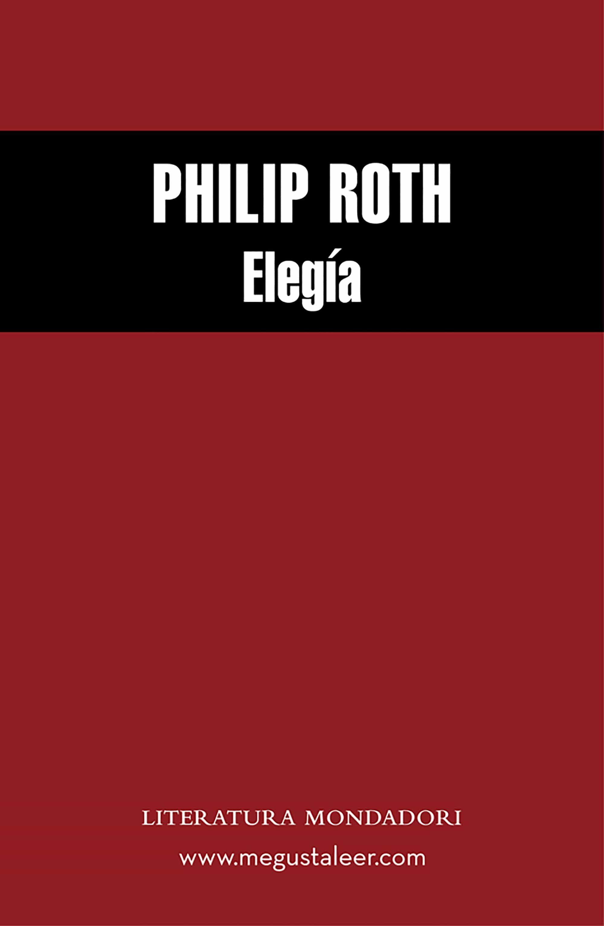 Eleg�a (ebook)philip Roth9788439701705