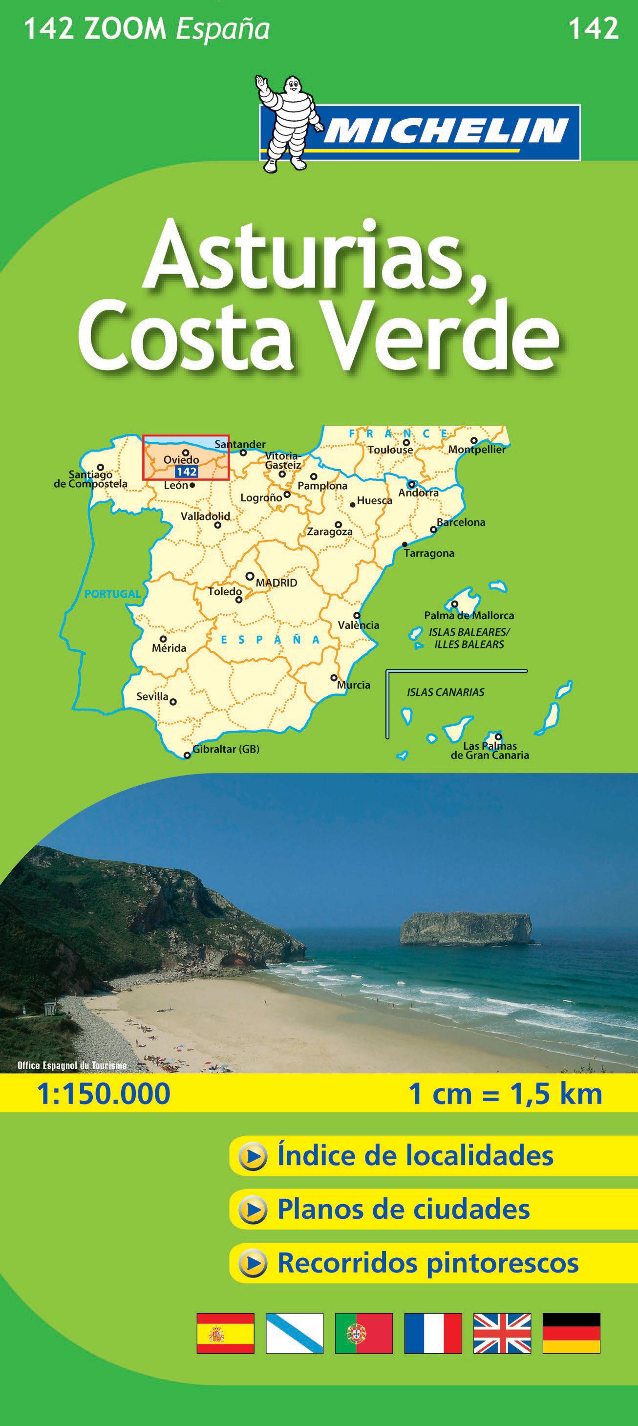 Asturias  Costa Verde  Ref  142   Mapas Zoom Espa U00d1a