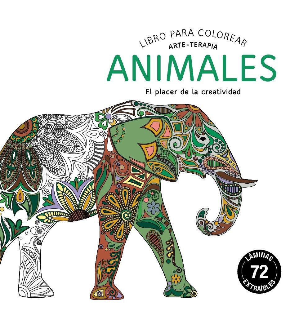 ANIMALES: LIBROS PARA COLOREAR. ARTE-TERAPIA (COMPACTOS) | VV.AA ...