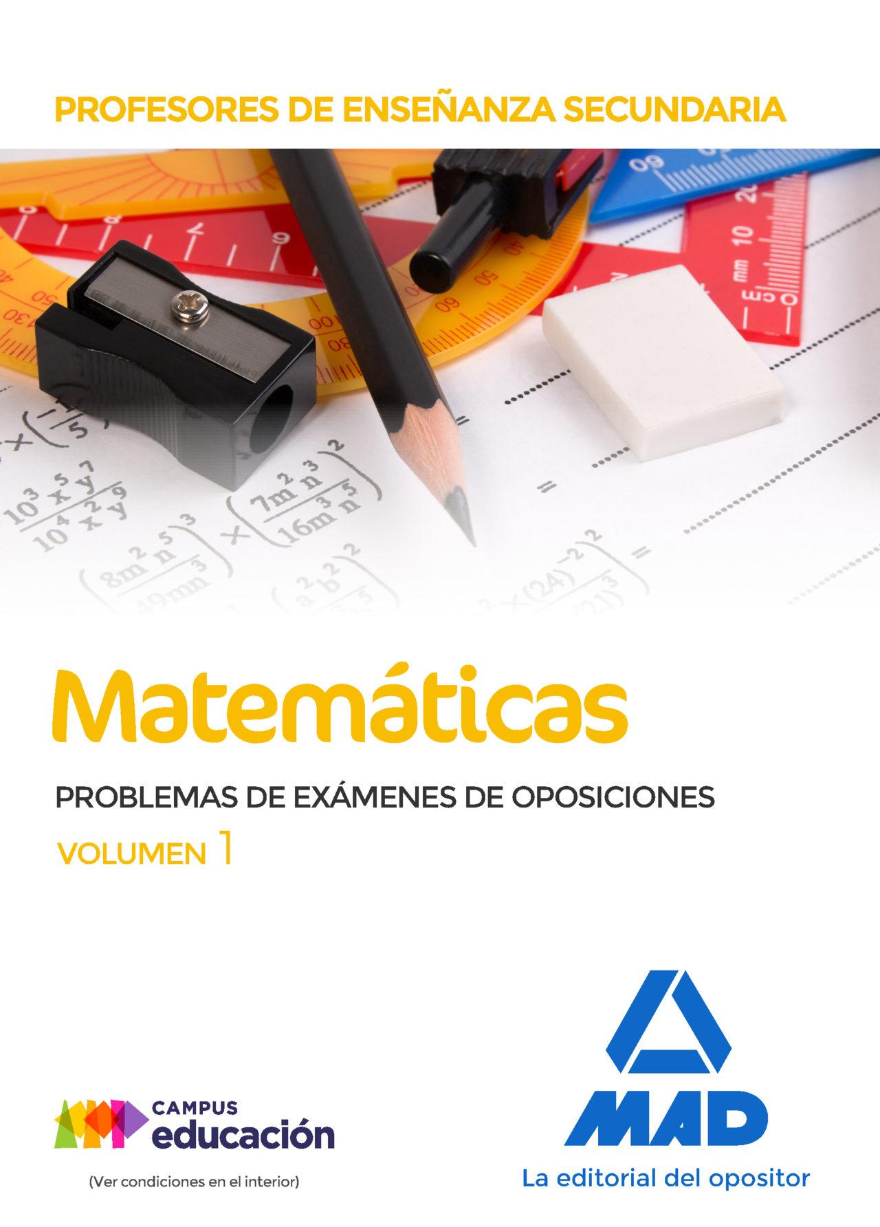 profesores de enseñanza secundaria matematicas problemas de examenes de oposiciones (vol. 1)-9788414213735