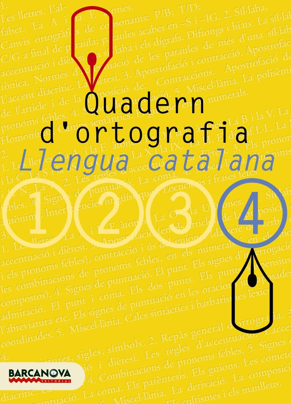 Quadern D Ortografia:  Llengua Catalana (4º Eso) por Vv.aa.