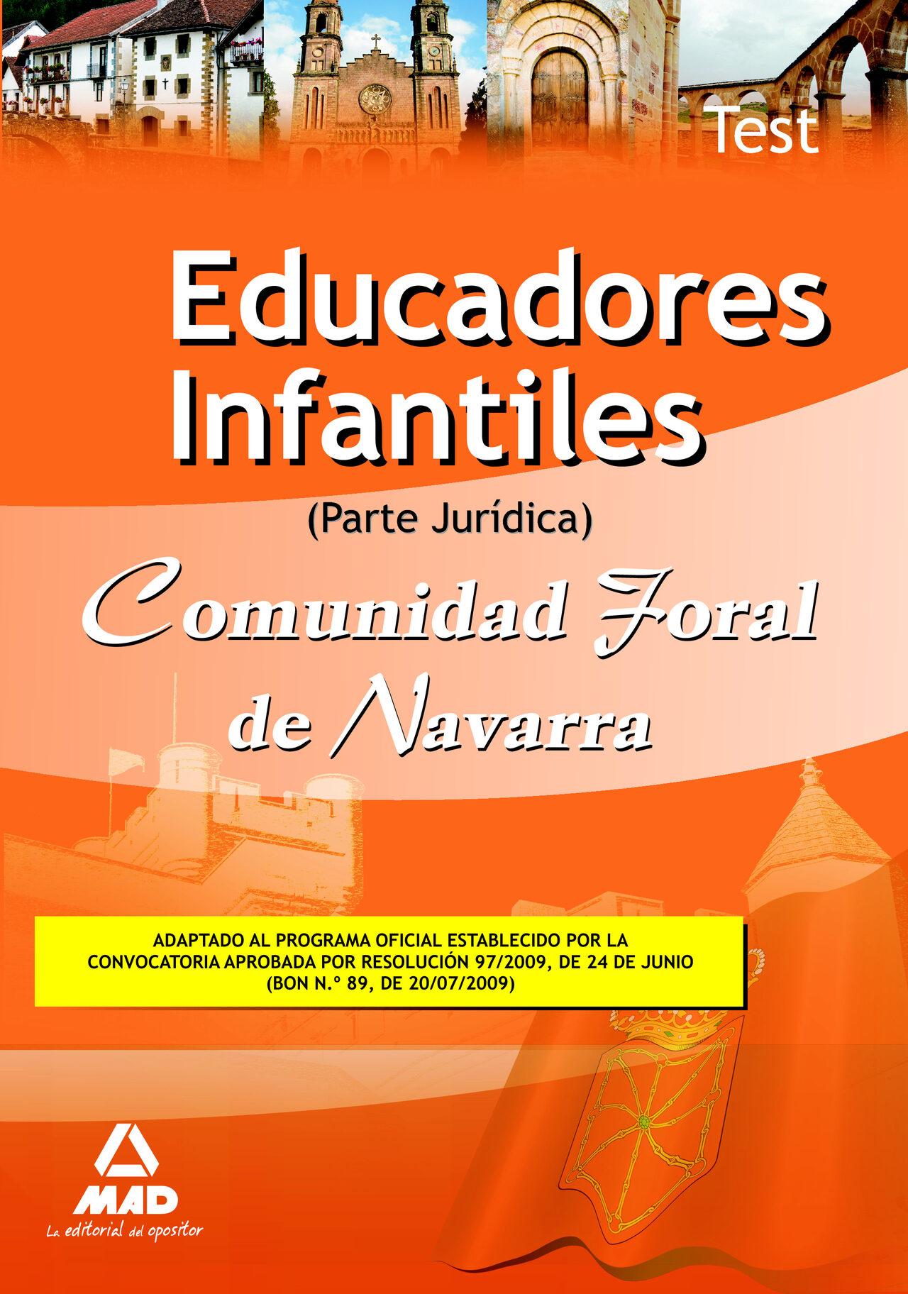 Educadores Infantiles De La Comunidad Foral De Navarra. Test Part E Juridica por Vv.aa.