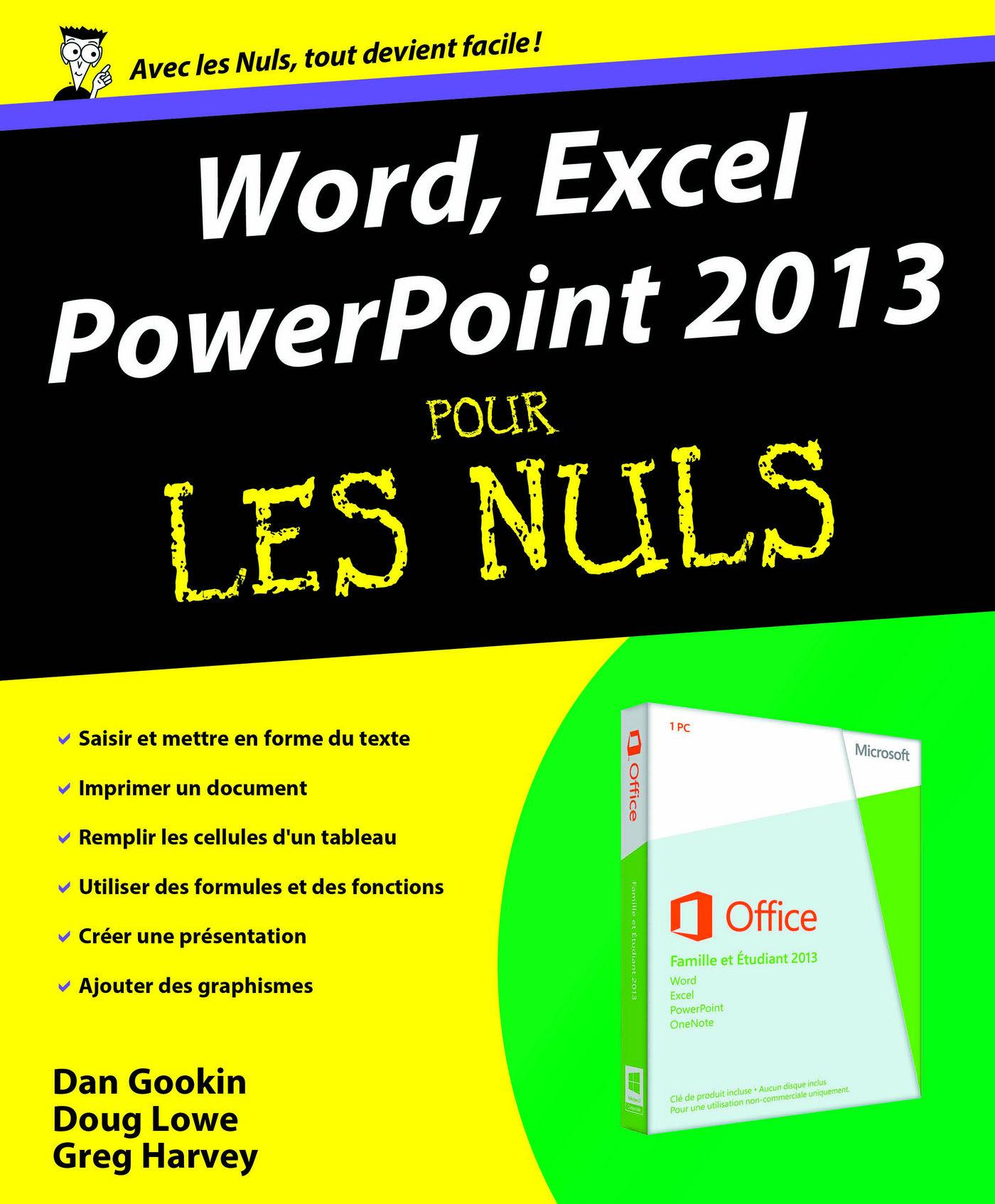 word excel powerpoint 2013 pour les nuls ebook doug lowe