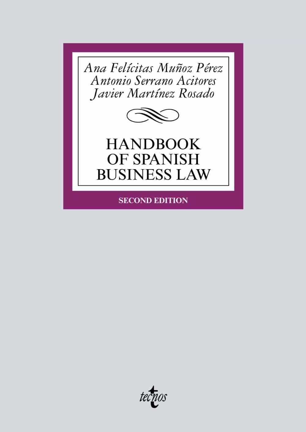 handbook of spanish business law (2ª ed.)-9788430973545