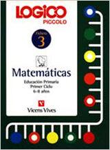 Logico Piccolo. Matemáticas 3 por Vv.aa.