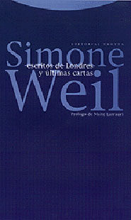 Escritos De Londres Y Ultimas Cartas por Simone Weil