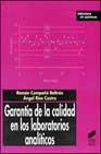 garantia de calidad en los laboratorios analiticos-ramon compaã'o beltran-angel rios castro-9788497560245
