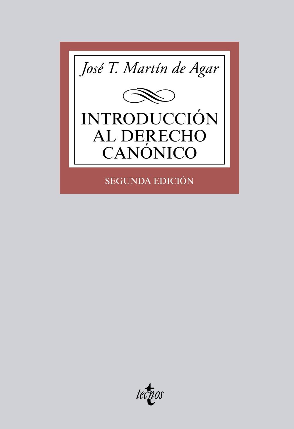 introducción al derecho canónico-jose tomas martin de agar-9788430962075