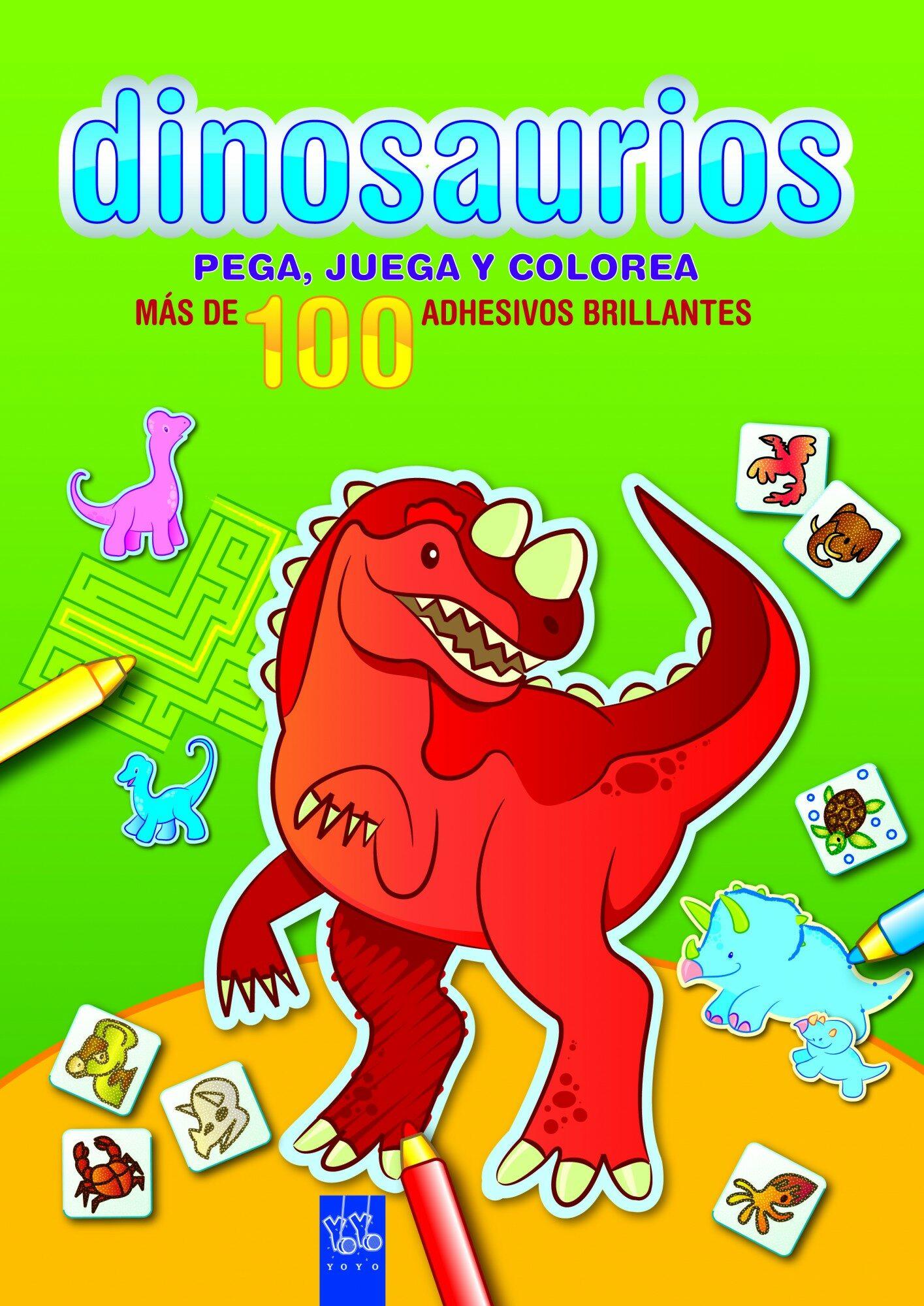 Dinosaurios: Pega, Juega Y Colorea: Verde por Yoyo epub