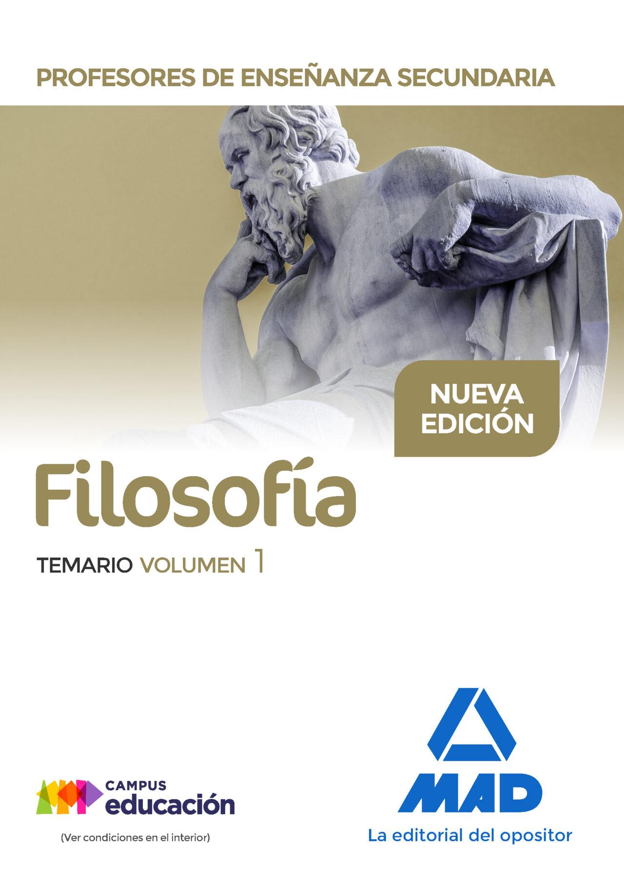 profesores de enseñanza secundaria filosofía temario volumen 1-9788414207895