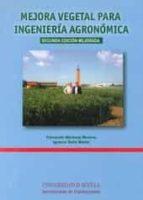 mejora vegetal para ingeniería agronomica (2ª edicion) 9788447215805