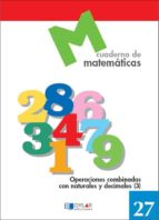 cuaderno de matematicas, n. 27 9788489655805