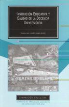 innovacion educativa y calidad de la docencia universitaria francisco jose gonzalez garcia 9788497471305