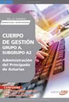 cuerpo de gestion grupo a, subgrupo a2, de la administracion del principado de asturias. vol. iv. temario seguridad social y gestion financiera 9788499372105