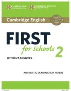 cambridge english: first (fce4s) for schools 2 student s book without answers-9781316503515