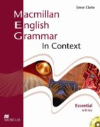 macmillan english grammar in context essential with key and cd ro m pack 9781405070515