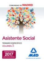 ASISTENTES SOCIALES DE LA COMUNIDAD DE MADRID TEMARIO ESPECIFICO VOLUMEN 3