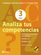 analiza tus competencias. lengua castellana y literatura 3 eso roberto bravo de la varga 9788421853115
