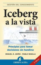 iceberg a la vista: principios para tomar decisiones sin hundirse pablo maella cerrillo 9788492452415