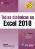 tablas dinamicas en excel 2010 antonio menchen peñuela 9788499640815
