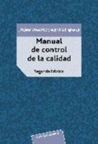 manual del control de calidad (2 vols.) j. m. et al. juran 9788429126525