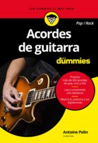 acordes de guitarra pop/rock para dummies-antoine polin-9788432903625