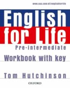 english for life pre intermediate workbook with key 9780194307635