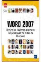 word 2007: domine las funciones avanzadas del procesador de texto microsoft-9782746035935