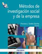 métodos de investigación social y de la empresa-francisco jose sarabia sanchez-9788436828535