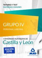 grupo 4 p laboral temario  testcomun castilla leon 9788490939635