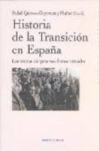 historia de la transicion en españa rafael quirosa cheyrouze 9788497427135