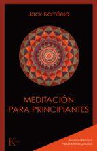 meditacion para principiantes jack kornfield 9788499886435
