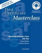 first certificate masterclass: workbook resource pack with key simon haines 9780194522045