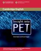 insight into pet student´s book helen naylor stuart hagger 9780521527545