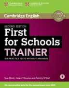 firsts for schools trainer second edition book without answers with audio 9781107446045
