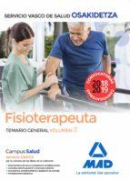 fisioterapeuta de osakidetza servicio vasco de salud. temario gen eral volumen 3 9788414215845
