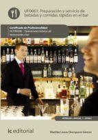 preparación y servicio de bebidas y comidas rápidas en el bar. hotr0208 (ebook)-matilde laura charquero gómez-9788417224745