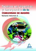 tecnicos en urgencias y emergencias de la comunidad de madrid. te mario volumen ii-9788467679045