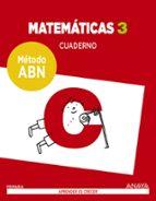 matemáticas 3º educacion primaria cuaderno método abn ed 2017-9788469829745