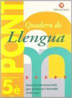 quadern pont llengua 5 primaria 9788478874545