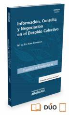 información, consulta y negociación en el despido colectivo maria del puy abril larráinzar 9788491353645