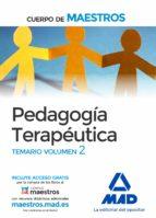 cuerpo de maestros. pedagogia terapeutica: temario (vol. 2) 9788414203255