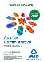 auxiliar administrativo de la junta de andalucia: temario volumen 3-9788414216255
