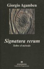 signatura rerum. sobre el método giorgio agamben 9788433963055