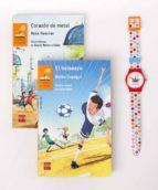 pack tiempo para leer naranja (contiene el balonazo y el corazon de metal + reloj)-belen gopegui-rosa huertas-9788467583755