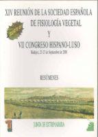 xiv reunion de la sociedad española de fisiologia vegetal 9788477234555