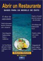 abrir un restaurante (ebook)-edurne betoño-9788493897055