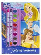 princesas: colores radiantes: colorear con ceras y acuarelas-9788416917365