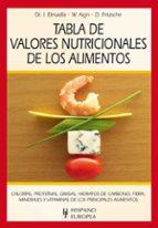tabla de valores nutricionales de los alimentos 9788425520365