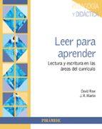 leer para aprender: lectura y escritura en las areas del curriculo david rose j.r. martin 9788436839265